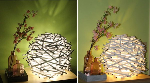 7 Bird's Nest Lamp Shade Out of Newspaper