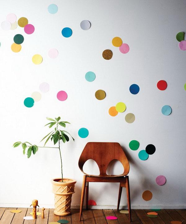 7 DIY Giant Confetti Wall