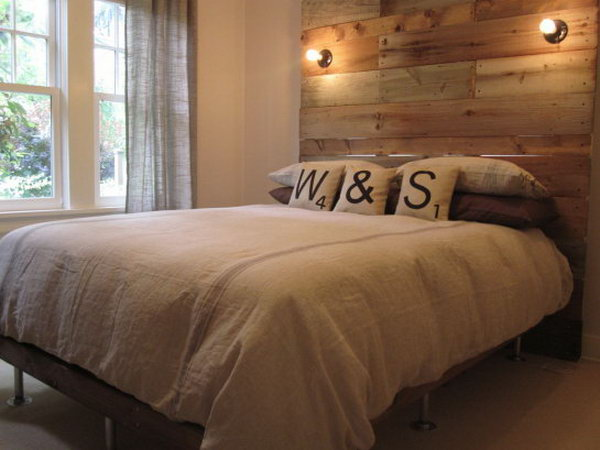 7 Frame with Wooden Headboard