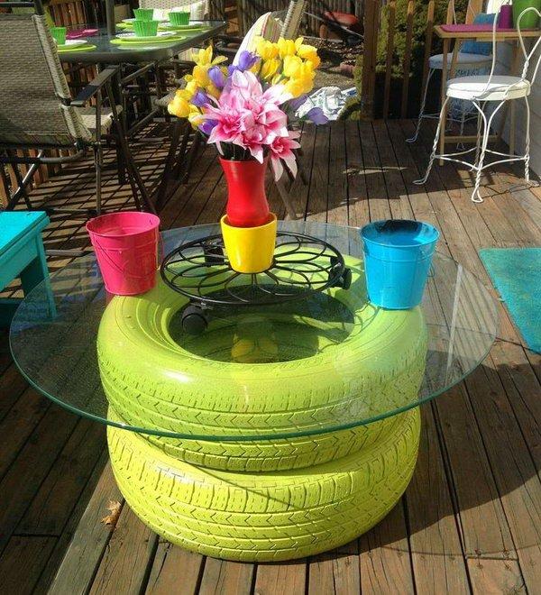 Nice 7 Garden Tire Table