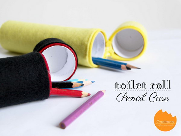 7 Toilet Paper Roll Pencil Case