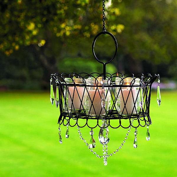 7 Wire Basket Chandeliers for Backyard