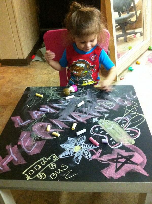 8 Fun Chalkboard Table for Kids