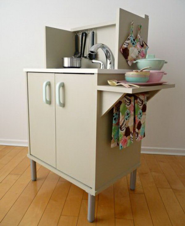 8 Microwave Stand Play Kitchen
