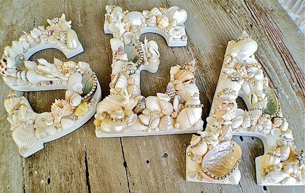 8 Sea Shells Letters