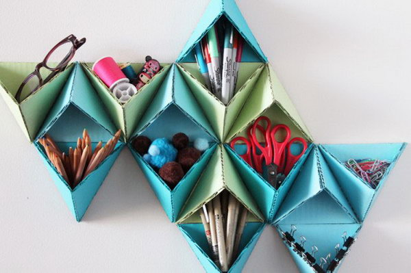 8 Triangular Wall Storage System