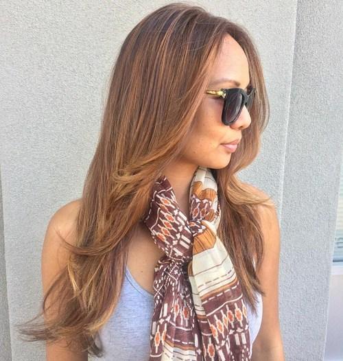 8 long haircut with faceframing layers