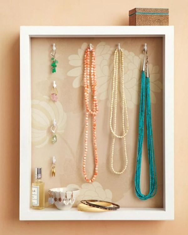 9 DIY Shadow Box Jewelry Holder