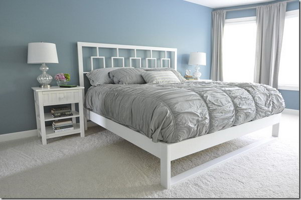 9 Simple White Bed Frame