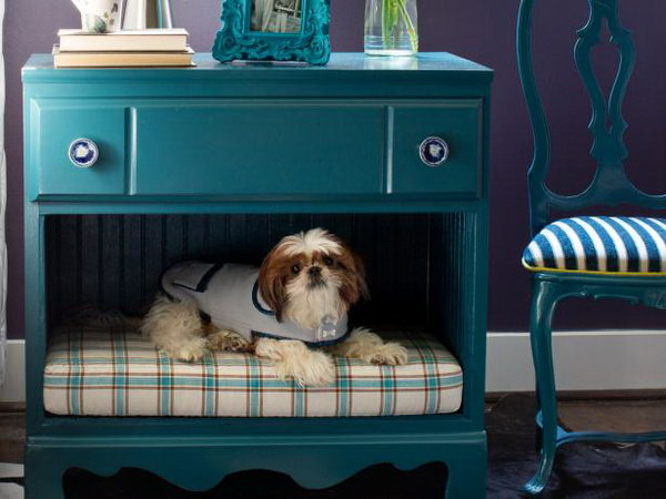 9 Turn a Dresser Into a Pet Bed and Nightstand