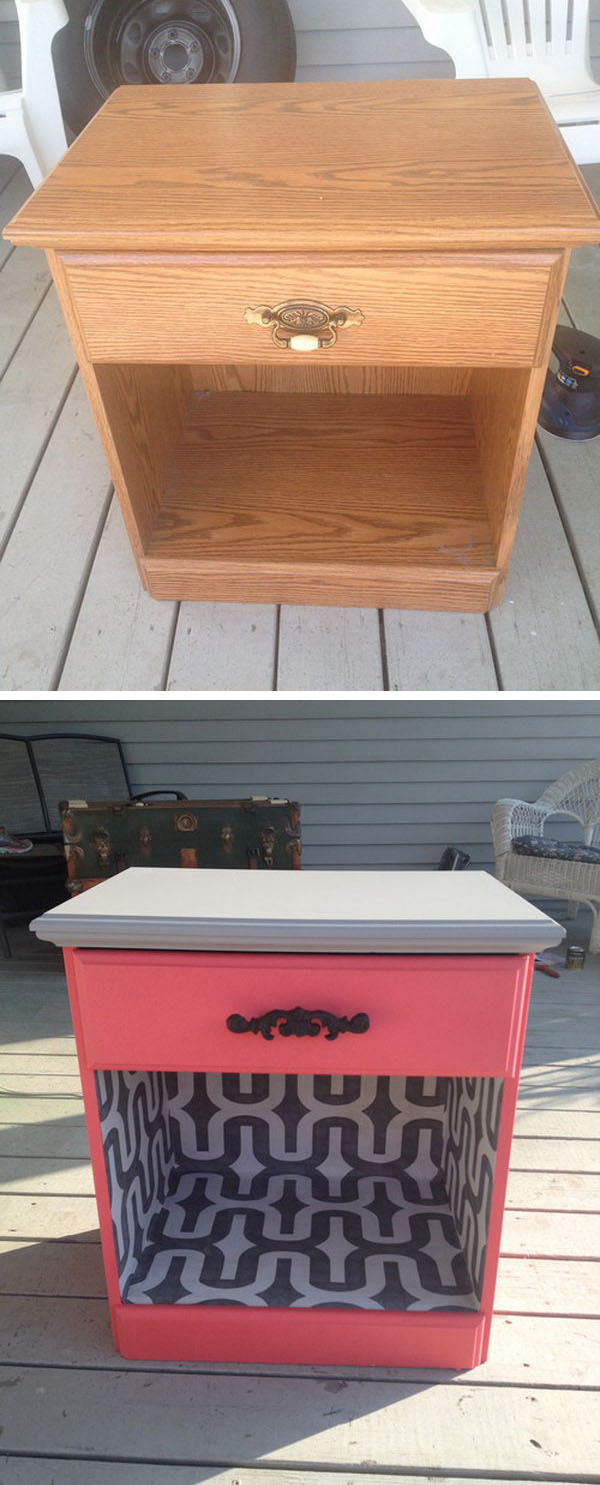 9 Upgrade a $8 Garage Sale with Color and Wallpaper