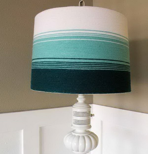 9 Yarn-Wrapped Lampshade