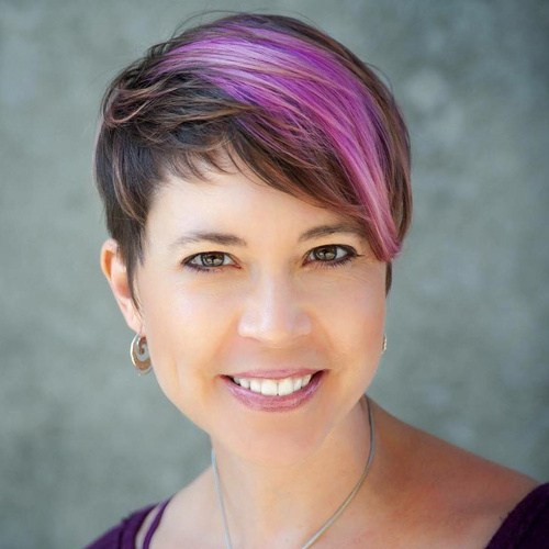 9 brown and purple pixie