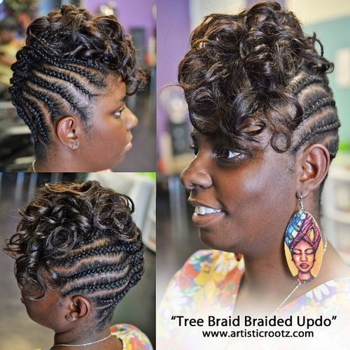 11 braided mohawk updo with curls