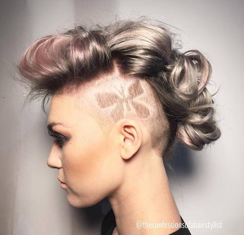 11 long hair mohawk with undercuts