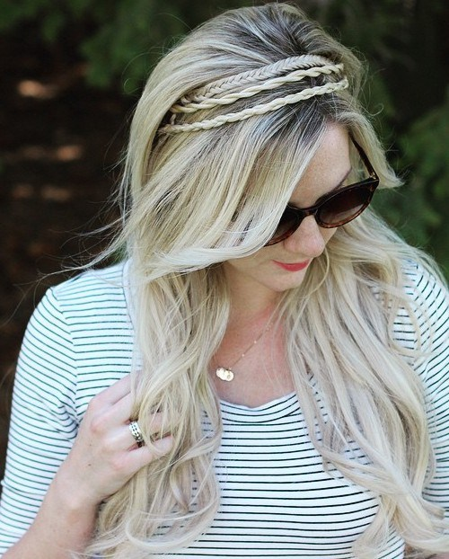 11 long hairstyle with three thin braids