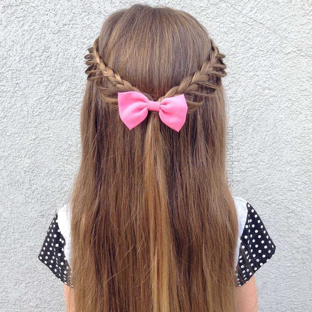 12 braided half updo for little girls