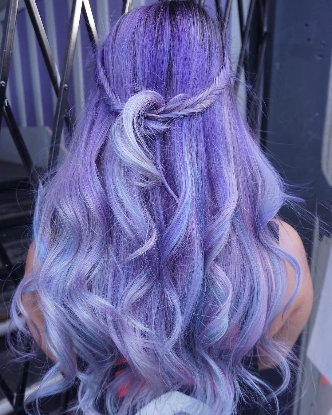 12 long pastel purple hairstyle