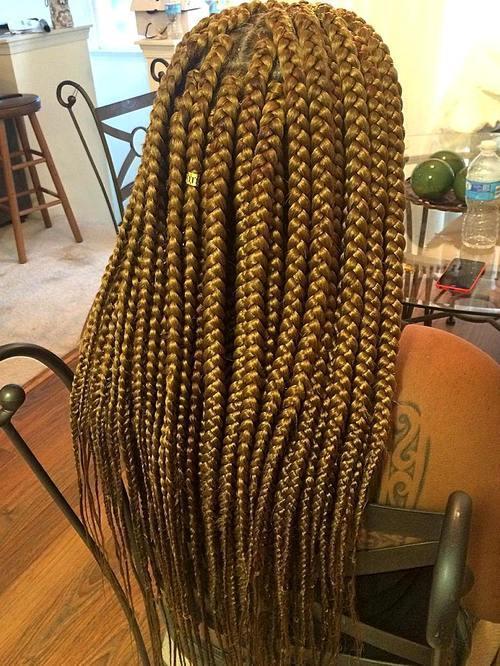 13 long big blonde box braids