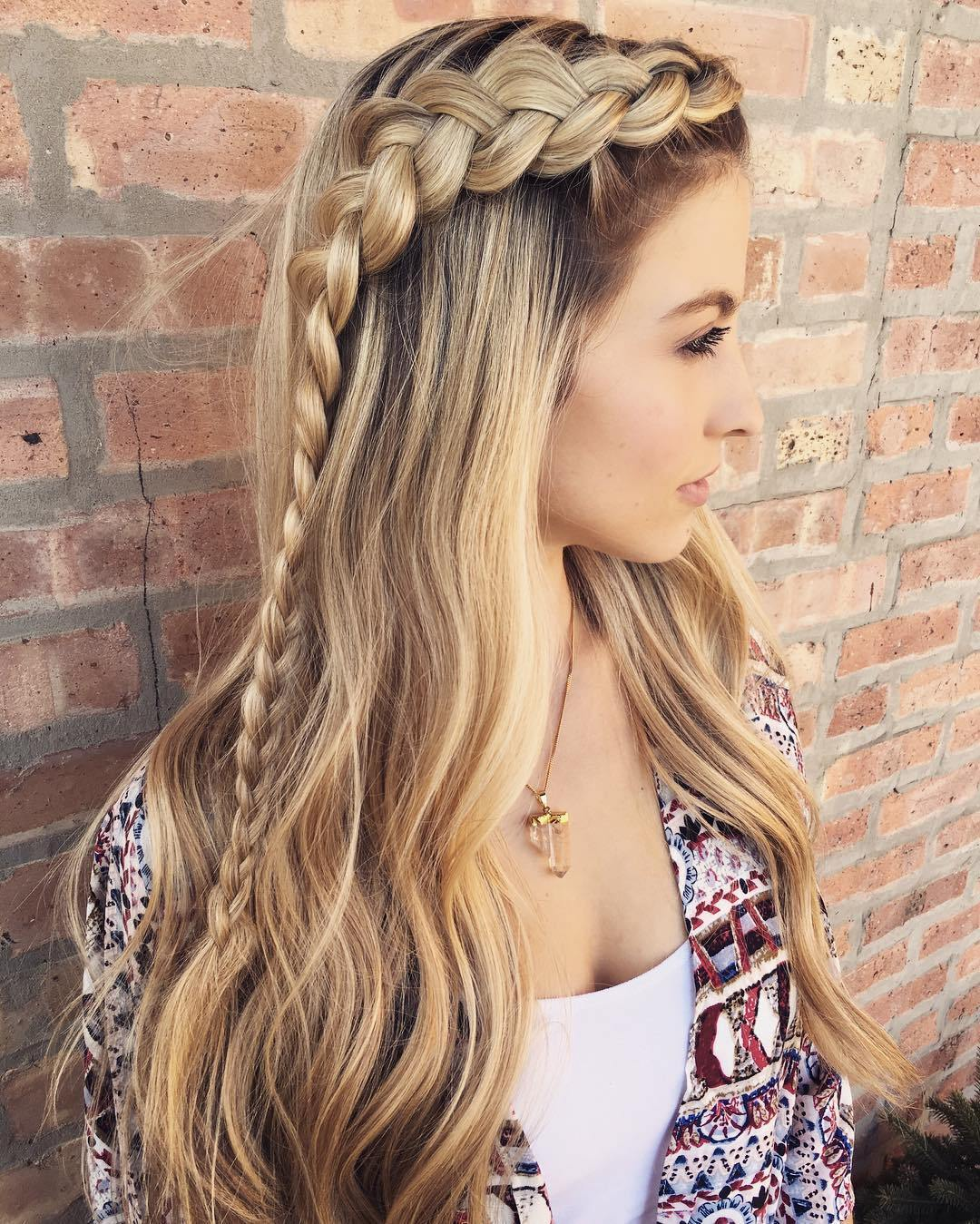 13 long hairstyle with a braid