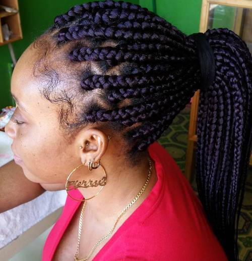 Wedding Hairstyles With Box Braids: 20 Best Looks Featuring Big Box Braids And Their Close-Up