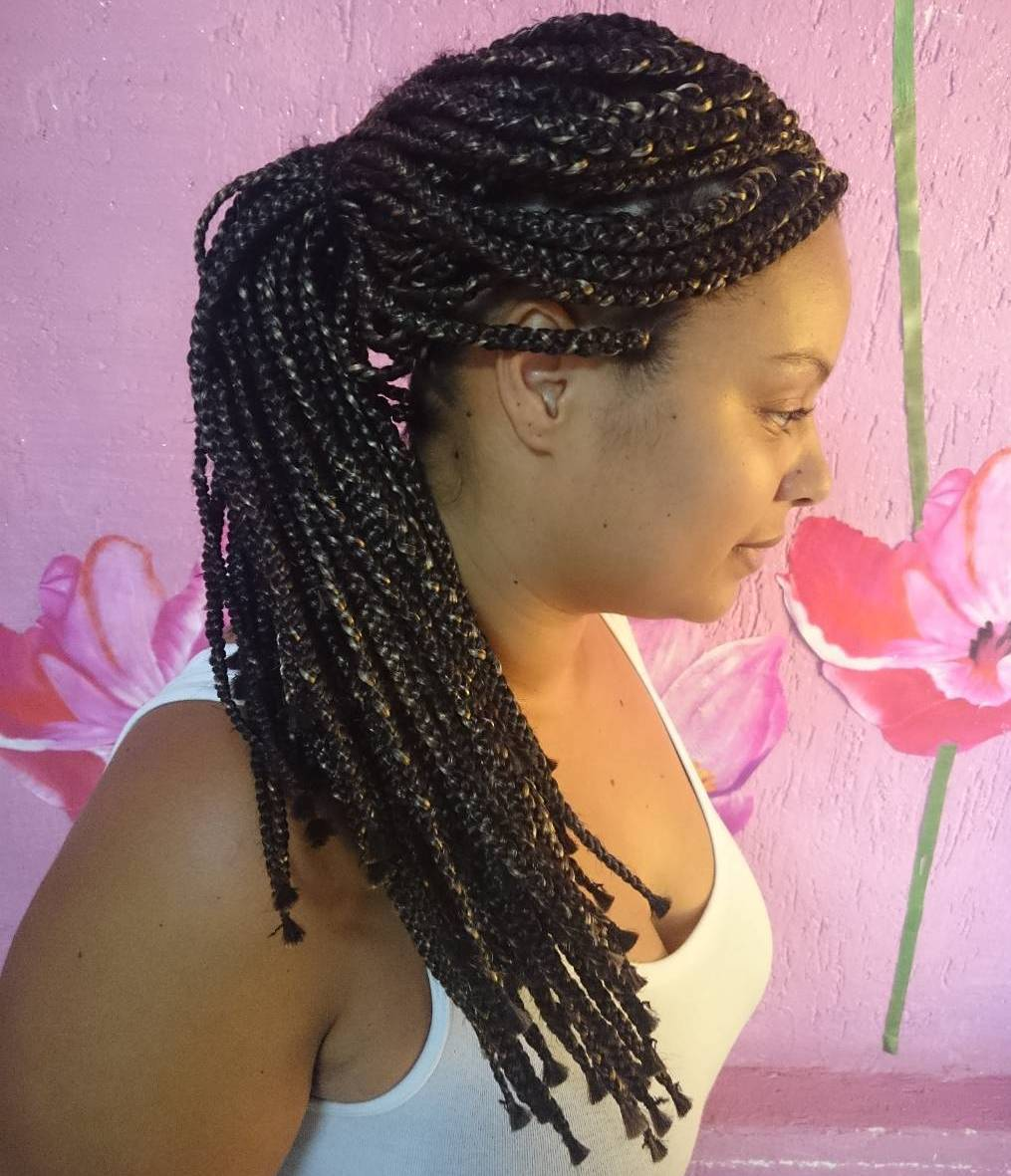 15 simple ponytail for box braids