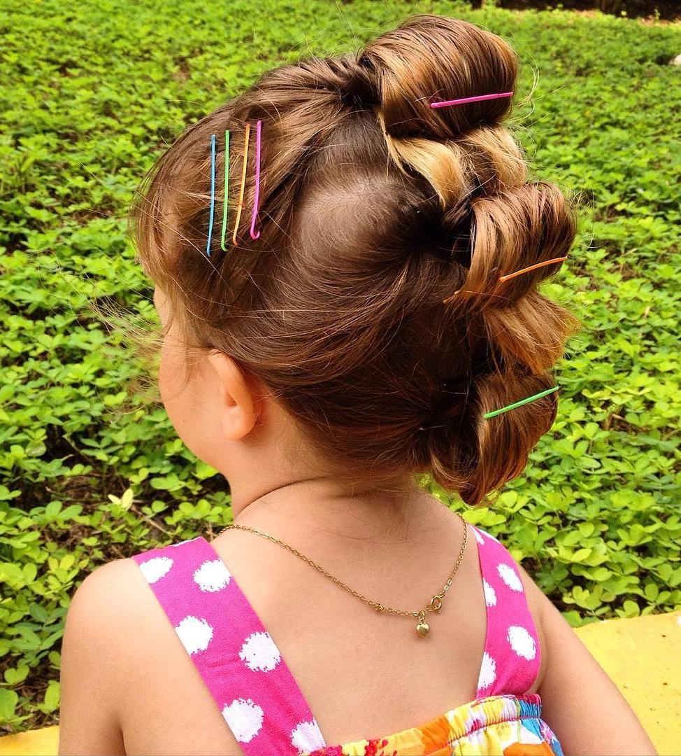 16 fauxhawk updo for little girls