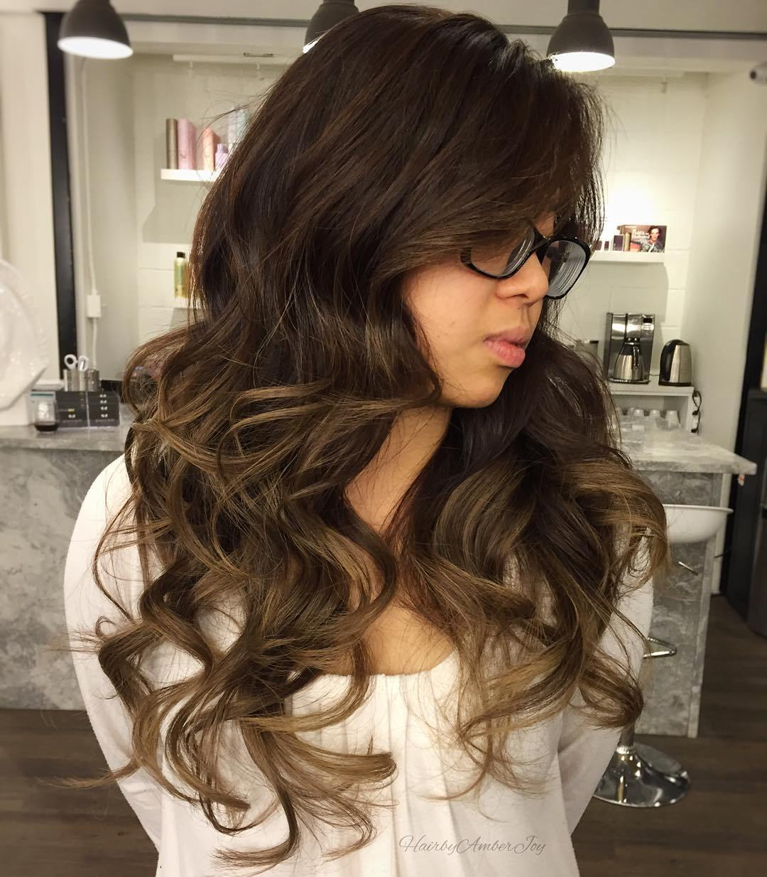 16 long brown balayage hair