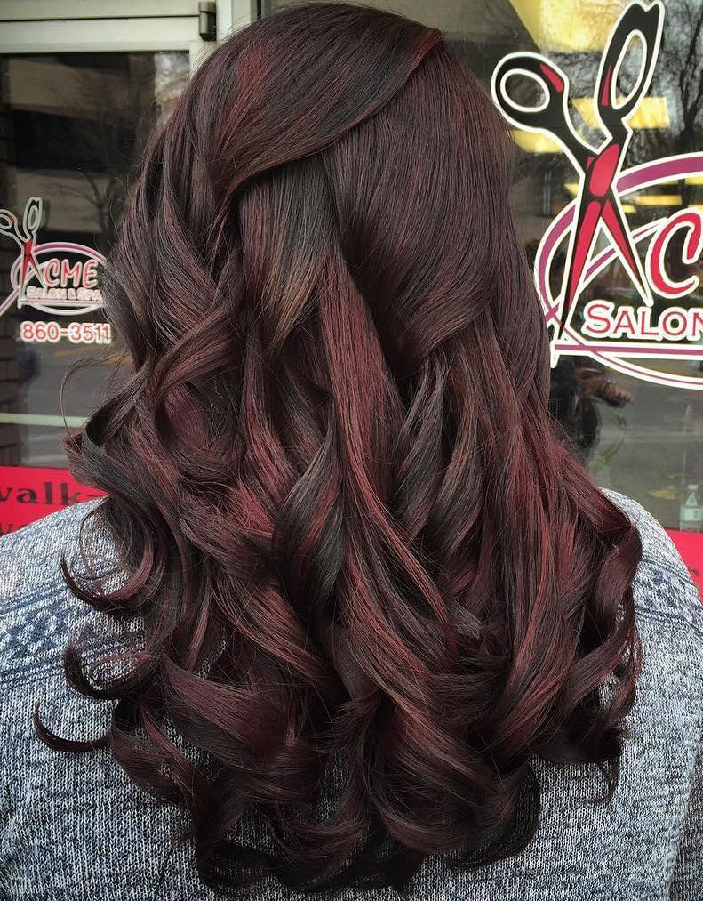 17 black hair with subtle red highlights