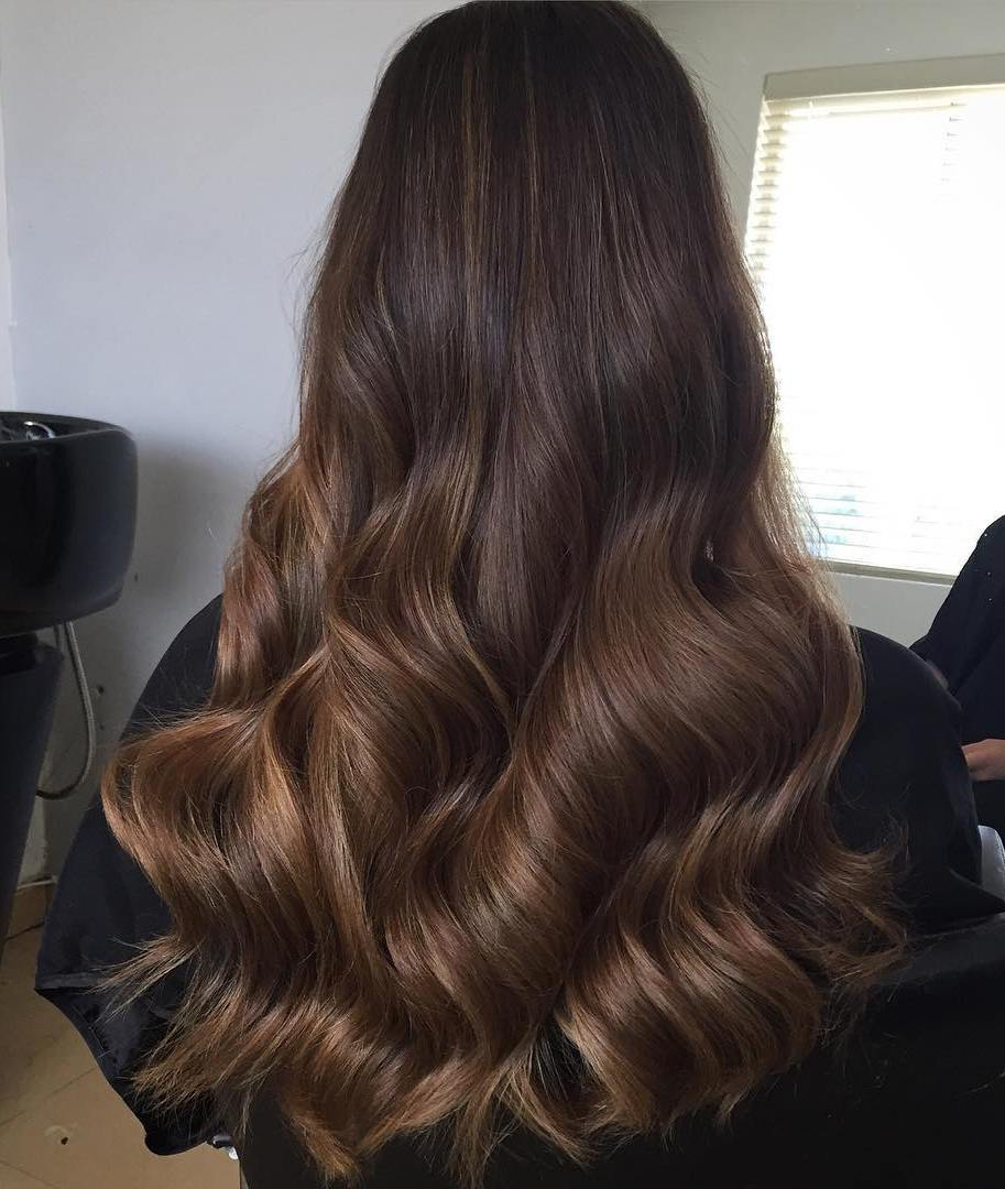 18 brown sombre for long hair