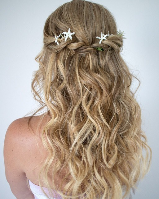 18 cute and easy curly half updo