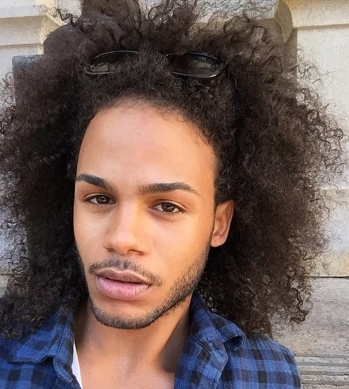 18 long afro hairstyle for men