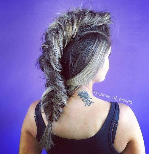18 messy fishtail mohawk braid