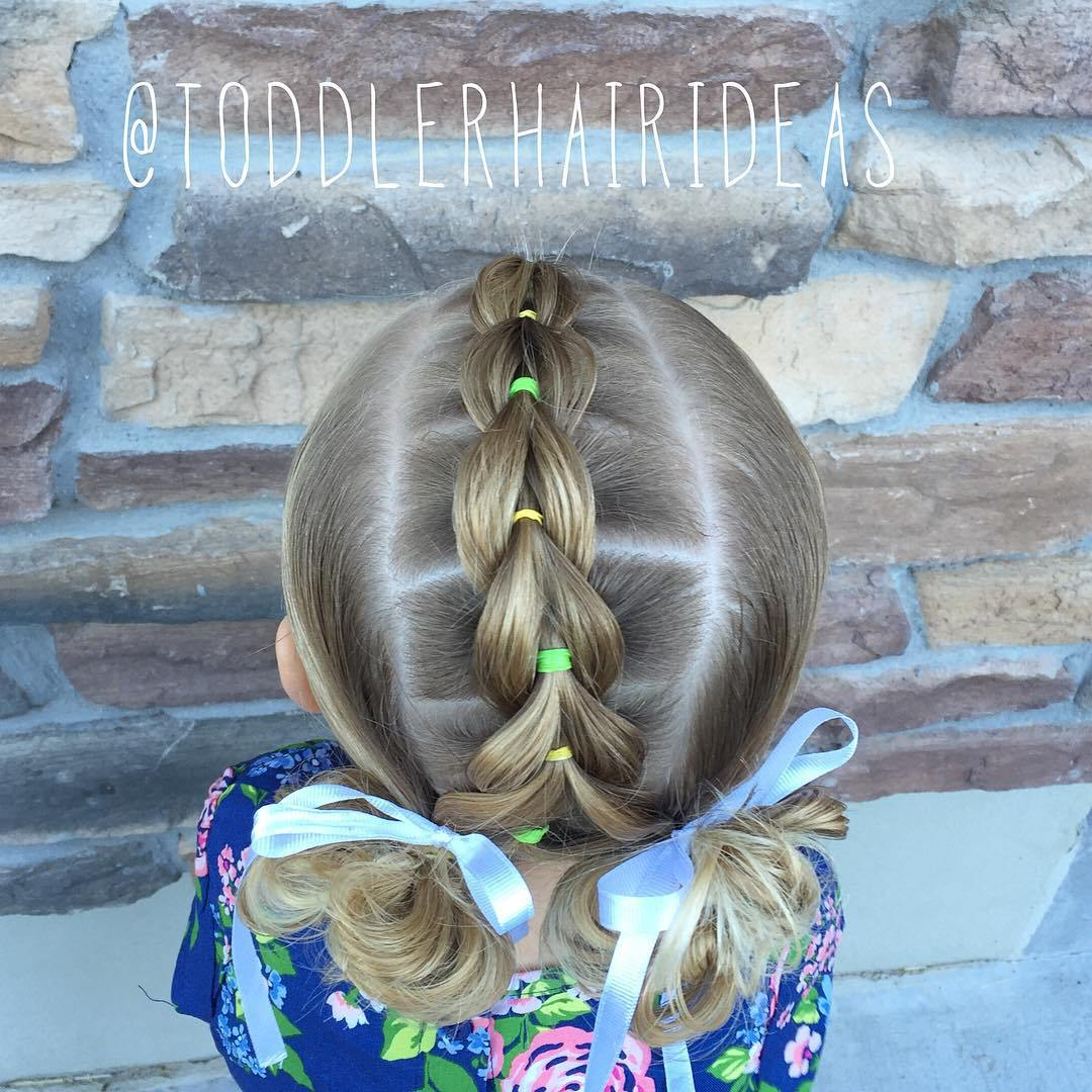 18 toddlers pull through braid