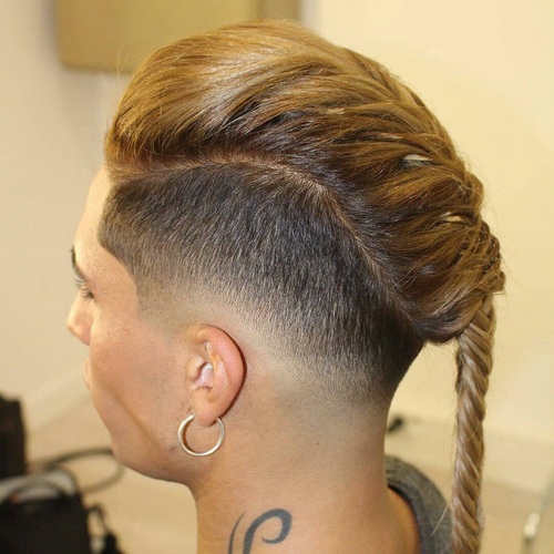 19 braided long top short sides