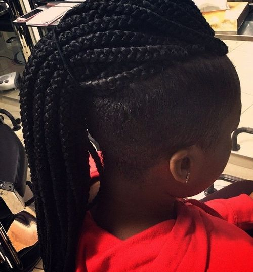 19 mohawk with long box braids