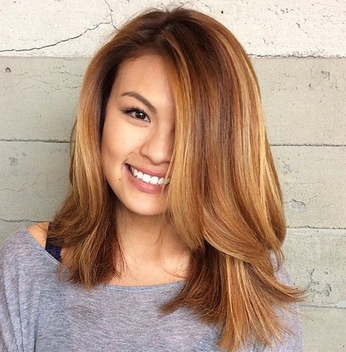 2 layered lob haircut