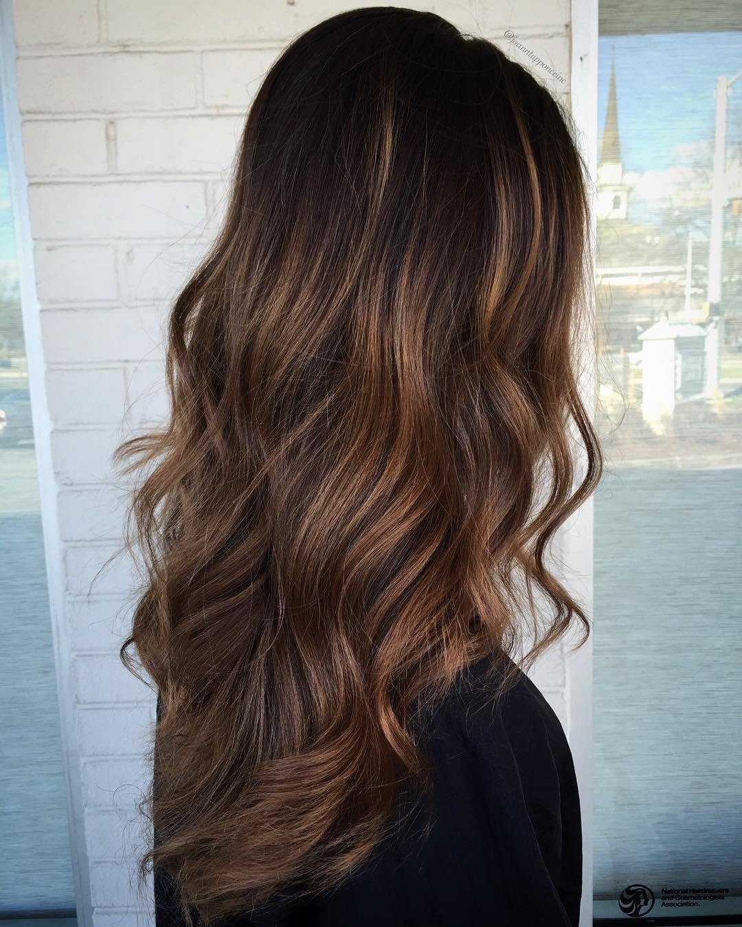 20 brown balayage long layered hair
