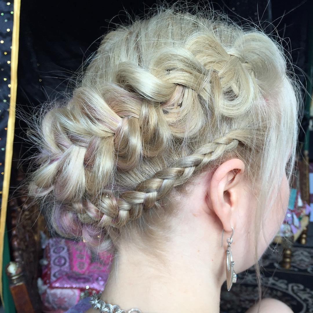 20 two braids updo