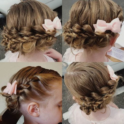 21 braided updo for little girls