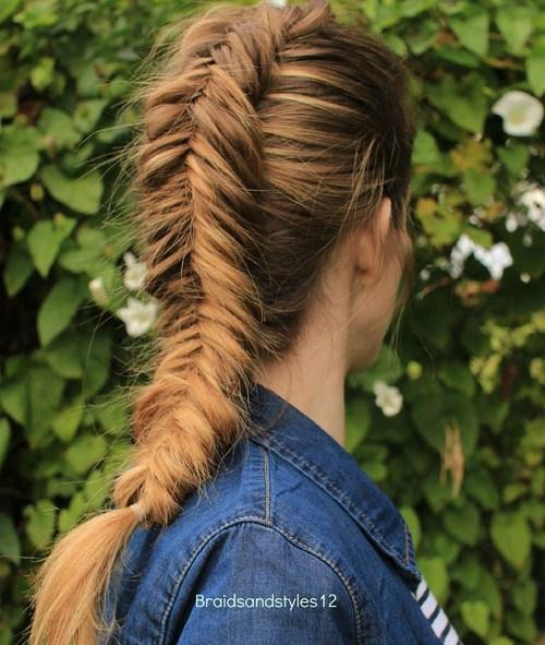 21 chunky dutch fishtail braid
