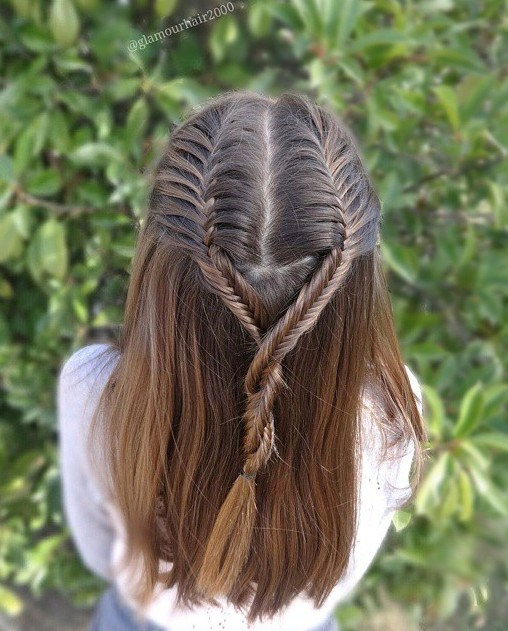 23 2 braids hairstyle for girls