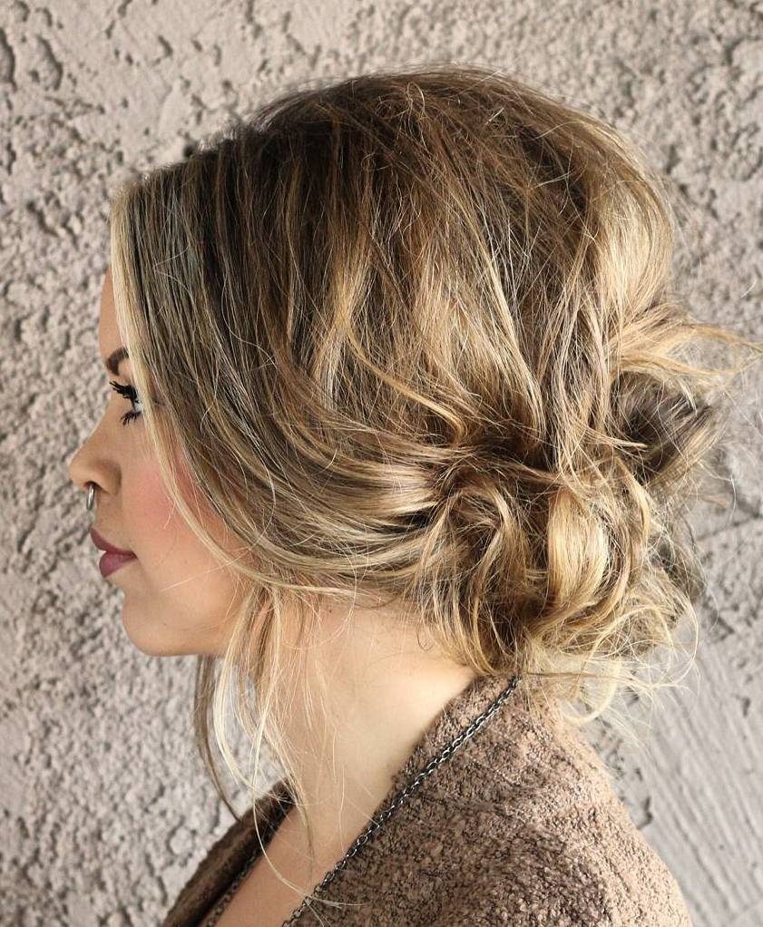 25 low messy updo