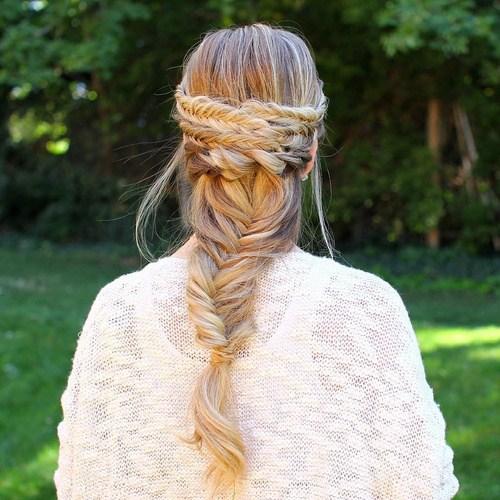 26 fishtail braid hairstyle for long hair