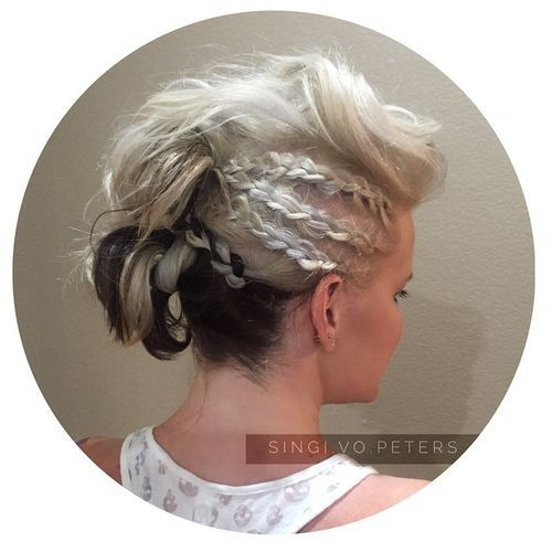 26 funky mohawk with side braids