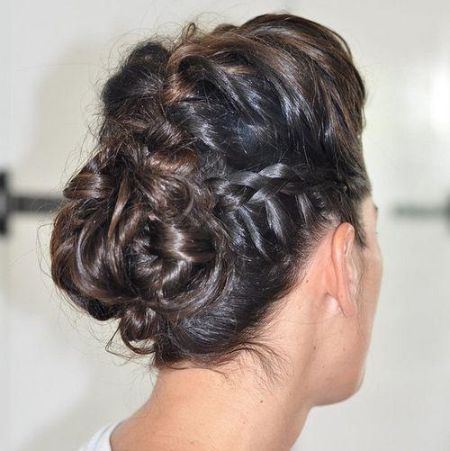 28 braided updo