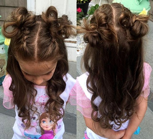 28 messy curly hairstyle for little girls