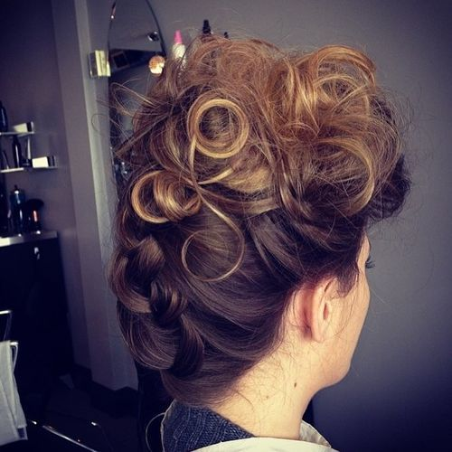 29 curly mohawk updo