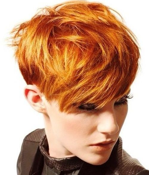 3 Textured Red Pixie