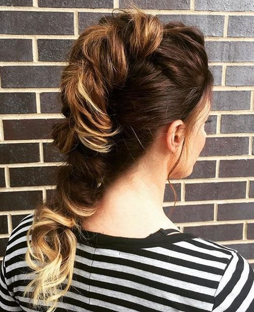 30 fauxhawk updo for ombre hair